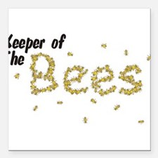 """Keeper of the Bees Square Car Magnet 3"""" x 3"""""""
