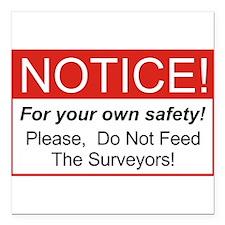 """Notice / Surveyors Square Car Magnet 3"""" x 3"""""""