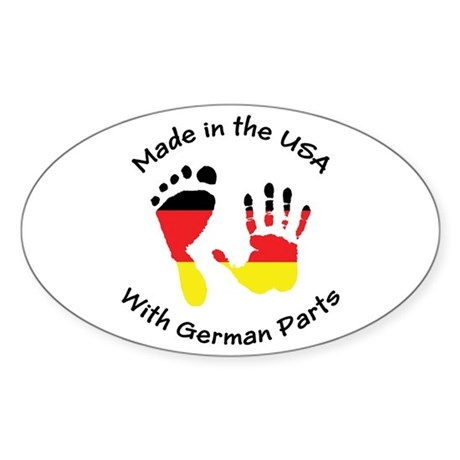 Made With German Parts Oval Sticker