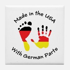 Made With German Parts Tile Coaster