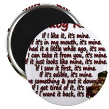 """Bulldog Rules red 2.25"""" Magnet (100 pack)"""