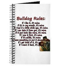 Bulldog Rules red Journal