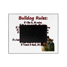 Bulldog Rules red Picture Frame
