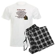 Bulldog Rules red Pajamas