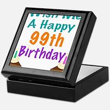 Wish me a happy 99th Birthday Keepsake Box
