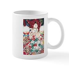 A Candy And Hot Chocolate Snowman Treat.. Mug