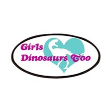 Girls (Heart) Dinosaurs Too Patches