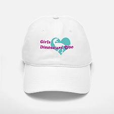 Girls (Heart) Dinosaurs Too Baseball Baseball Cap