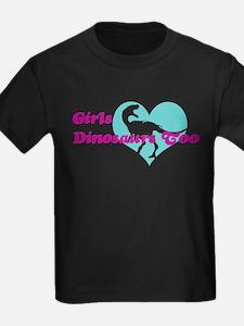 Girls (Heart) Dinosaurs Too T