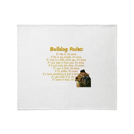 Bulldog Rules gold Throw Blanket