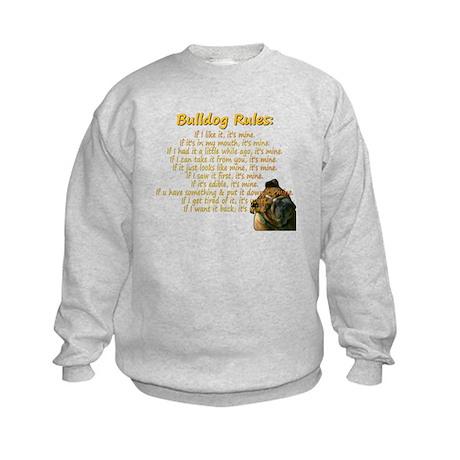 Bulldog Rules gold Kids Sweatshirt
