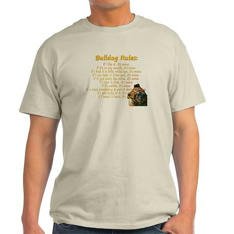 Bulldog Rules gold Light T-Shirt