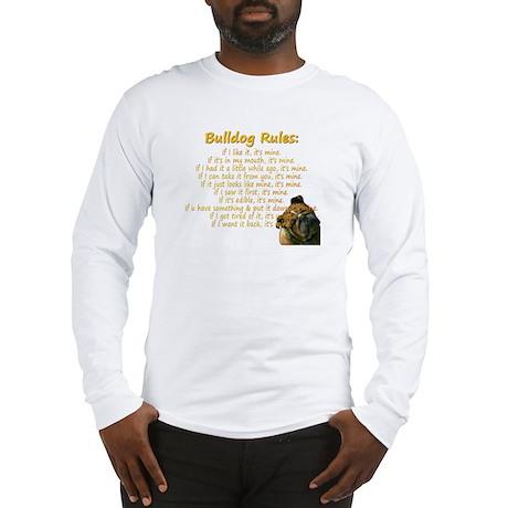 Bulldog Rules gold Long Sleeve T-Shirt