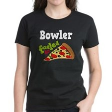 Bowler Funny Pizza Tee