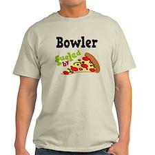 Bowler Funny Pizza T-Shirt