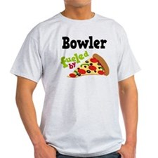 Bowler Funny Pizza T-Shirt