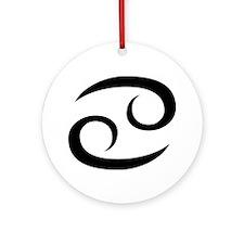 Cancer Symbol Ornament (Round)