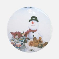 Snowmen Love Snacks. Ornament (Round)