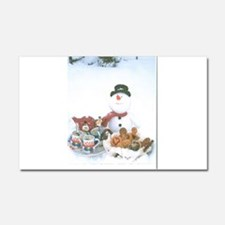 Snowmen Love Snacks. Car Magnet 20 x 12