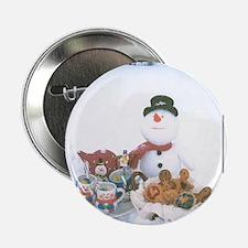 "Snowmen Love Snacks. 2.25"" Button"