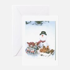 Snowmen Love Snacks. Greeting Card