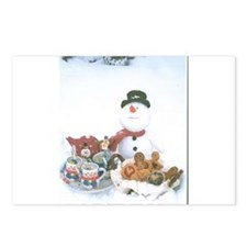 Snowmen Love Snacks. Postcards (Package of 8)