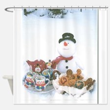 Snowmen Love Snacks. Shower Curtain