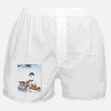 Snowmen Love Snacks. Boxer Shorts