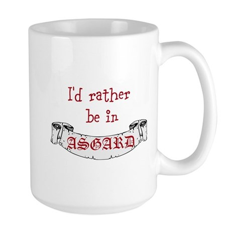 Id Rather Be In Asgard Large Mug