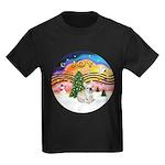 XMusic 2 - French Bulldog (fawn) Kids Dark T-Shirt