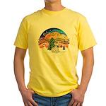 XMusic 2 - French Bulldog (fawn) Yellow T-Shirt