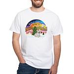 XMusic 2 - French Bulldog (fawn) White T-Shirt