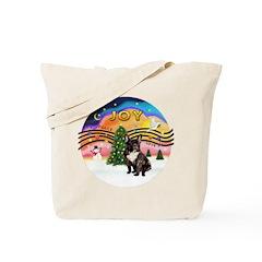 XMusic2-FrenchBulldog-br Tote Bag