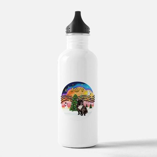 XMusic2-FrenchBulldog-br Water Bottle