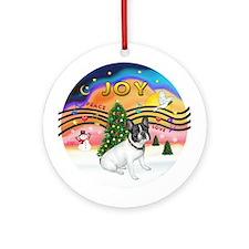 XMusic2-French Bulldog (BW) Ornament (Round)