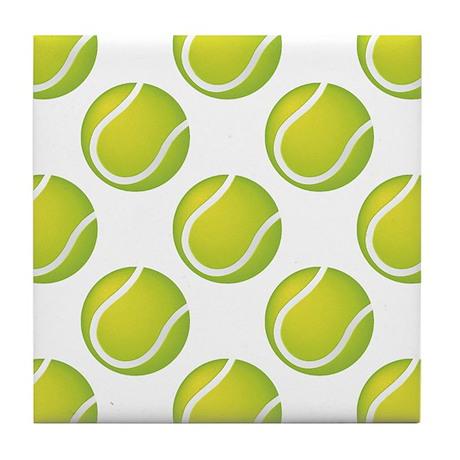 Tennis Balls Tile Coaster