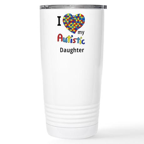 Autistic Daughter Stainless Steel Travel Mug