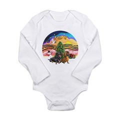 XMusic2-Two Dachshunds Long Sleeve Infant Bodysuit