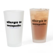 Unique Allergies Drinking Glass