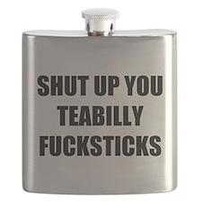 Teabilly Fucksticks Flask