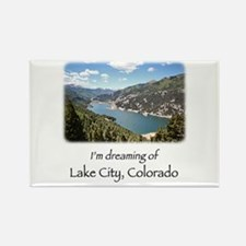 Lake City Dreaming Rectangle Magnet