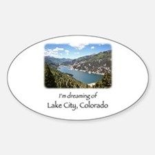 Lake City Dreaming Sticker (Oval)