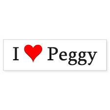I Love Peggy Bumper Bumper Sticker