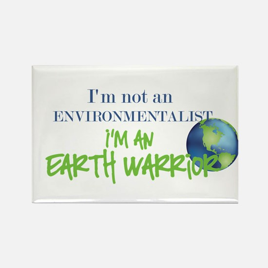 Earth Warrior Rectangle Magnet