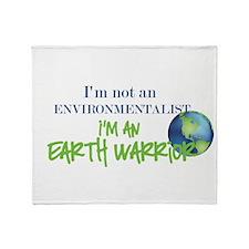 Earth Warrior Throw Blanket