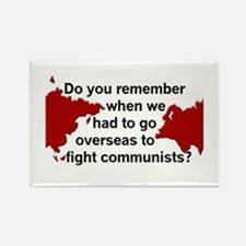 Oversea Communists? Rectangle Magnet