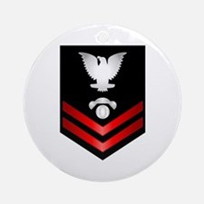 Navy PO2 Interior Comm Electrician Ornament (Round