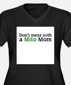 Dont mess with a Mito Mom Women's Plus Size V-Neck