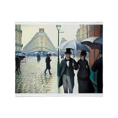 Caillebotte Paris Street Rainy Day Throw Blanket