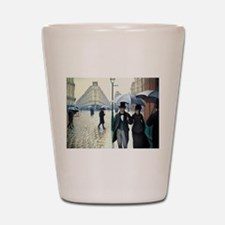 Caillebotte Paris Street Rainy Day Shot Glass